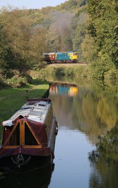 Autumn at Consall Forge, Staffordshire Moorlands District Canal Barge, Canal Boat, Living In England, Uk Holidays, Narrowboat, West Midlands, Wooden Boats, Boat Building, Places To See