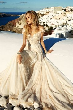Gorgeous cap sleeve wedding gown sexy elegant | Wedding dress #weddingdress #weddinggown #weddingdresses ,wedding dresses ,wedding gowns