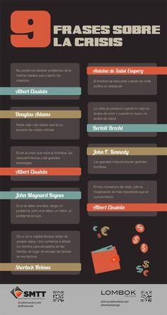 9 frases célebres sobre CRISIS #infografia #infographic #citas