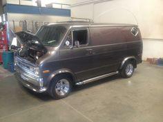 70's custom Dodge boogie van