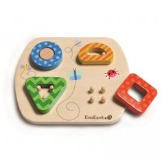 A chunky five-piece wooden puzzle for babies 18+ months.