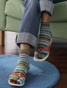 Yarnspirations.com - Patons Flip-Flop Socks - Patterns    Yarnspirations
