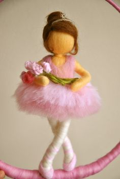 Enfants Waldorf Mobile inspiré needle felted Doll : par MagicWool