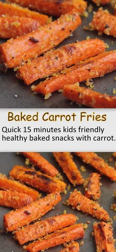 Carrot Fries Quick 15 minutes healthy Baked carrot fries are perfect for evening snacks. This is one nice way to make kids eat carrot.Quick 15 minutes healthy Baked carrot fries are perfect for evening snacks. This is one nice way to make kids eat carrot.