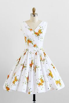 Butterfly Print Clothing   vintage 1950s dress / butterfly dress / 50s Butterflies Print Cotton ...