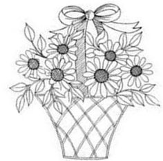 Candlewicking Patterns, Hand Embroidery Patterns Free, Embroidery Hoop Crafts, Hand Embroidery Videos, Embroidery Flowers Pattern, Vintage Embroidery, Embroidery Stitches, Flower Coloring Pages, Coloring Book Pages