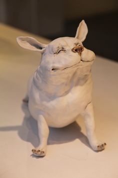 ceramic dog| i must make something like this!