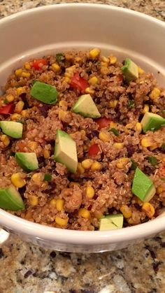 'Warm Quinoa Salad' The only main difference I did was that I do not use olive oil. I just spray my pan with nonstick spray and heat the vegetables as you normally would.