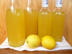 Home made Limoncello: I would love to make this ahead of time for Christmas gifts!