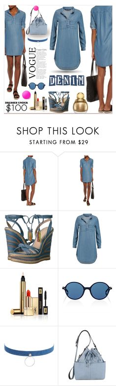 """Under $100: Summer Dresses"" by zouus ❤ liked on Polyvore featuring Pelle Moda, W118 by Walter Baker, Yves Saint Laurent, Oliver Peoples, Jules Smith and Miss Selfridge"