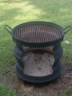 √ 27 Most Favourite Outdoor Kitchen Ideas That Will Impress Your Friends Fire Pit Grill, Diy Fire Pit, Fire Pit Backyard, Backyard Bbq, Fire Pits, Outdoor Stove, Diy Outdoor Kitchen, Outdoor Fire, Outdoor Cooking