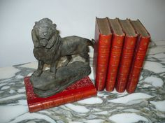 Antique Iron STANDING LION SCULPTURE by Shopaholics101 on Etsy