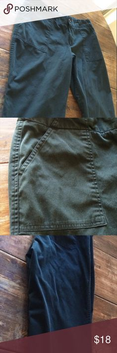 Mossimo 16 Black Plus Size Capri Classic Style. Tailored pockets. Back pockets are flap style. Use but good condition with some snags on waistband and back pockets from wear. Lots of stretch. Made out of cotton, nylon, and spandex. Made in Vietnam. Missing belt. Machine wash.  . Mossimo Supply Co. Pants Capris