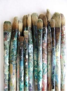 old paintbrushes, colours by StarMeKitten