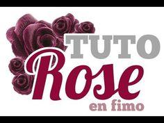 ▶ [TUTO] Rose en pâte polymère Fimo - YouTube