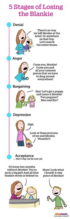 5 Stages Of Losing The Blankie #mom #toddler