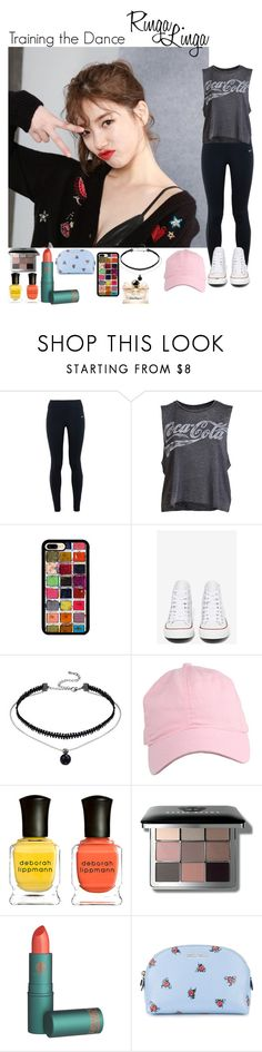 """make'em whistle like a missile"" by ameyzinha ❤ liked on Polyvore featuring NIKE, Chaser, Converse, Deborah Lippmann, Bobbi Brown Cosmetics, Miu Miu and Salvatore Ferragamo"