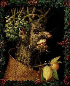 Italian artist Giuseppe Arcimboldo depiction of Winter painting