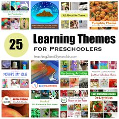 Teachers, are you looking for theme ideas? After years of tweaking, I've found 25 preschool learning themes that work well in the classroom.