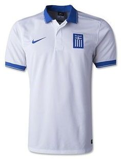 Greece Nike Mens Authentic White Stadium Soccer Jersey