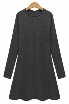 A-line Charcoal Dress