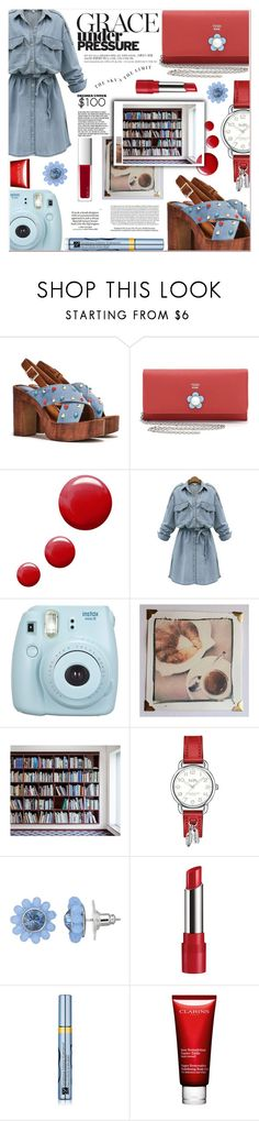 """""""the librarian"""" by ztugceuslu ❤ liked on Polyvore featuring Nasty Gal, Fendi, Topshop, WithChic, Fujifilm, Polaroid, Coach, Simply Vera, Rimmel and Estée Lauder"""