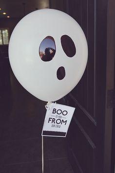 Halloween Boo Balloon and free printable