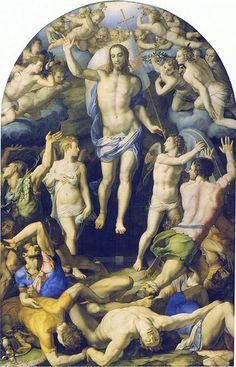 Bronzino - Resurrection (1552) Agnolo di Cosimo di Mariano, conosciuto come il BRONZINO (Monticelli di Firenze, 17 novembre 1503 – Firenze, 23 novembre 1572)   #TuscanyAgriturismoGiratola