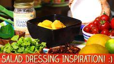 how to make salad dressings. megan elizabeth. fat and fat-free.