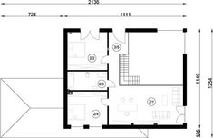 Projekt domu FX-31 257,31 m² - koszt budowy - EXTRADOM Modern Family House, Architect House, Floor Plans, Homemade Modern, Modern Homes, Floor Layout, Build House, Floor Plan Drawing, House Floor Plans