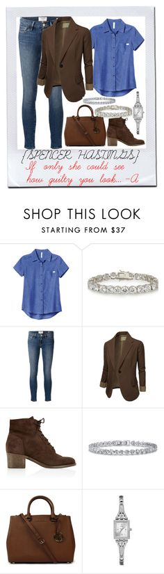 """""""Pretty Little Liars / The Jenna Thing 1x02 / Spencer Hastings"""" by shelbylynnjohnson on Polyvore featuring RVCA, Kenneth Jay Lane, Frame, J.TOMSON, Monsoon, BERRICLE, Michael Kors and GUESS"""