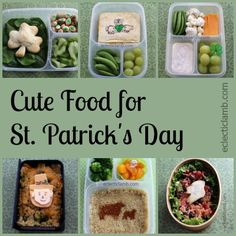 Cute St. Patrick's Day themed food