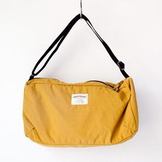 WONDER BAGGAGE ワンダーバゲージ / Relax shoulder : mustard × black リラックス・ショルダー マスタード × ブラック - struct