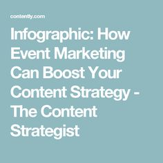 Infographic: How Event Marketing Can Boost Your Content Strategy - The Content Strategist