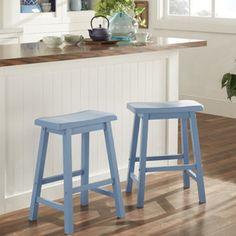 homebelle blue erickson counter height saddle stool set of two