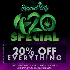 Ripped city rippedcgardens on pinterest happy 420 everything in the store is 20 off today come celebrate with fandeluxe Image collections