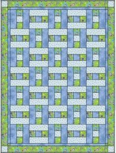 a simple H block, but looks like basket weaving, only 3 fabrics. I could do this. Aka 3 yard quilt. by MARIE DAWN