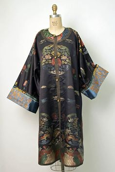 19th century Chinese Women's Robe // Medium: silk, metal // Dimensions: Length: 43 1/2 in. (110.5 cm) // Credit Line: Bequest of Ruth Shaefer Emery (Nancy E. Bakst, Executor), 1982 // Accession Number: 1982.255.1