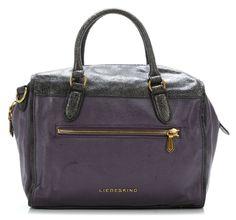 Liebeskind Canvas Crash Ozeana Handbag purple 33 cm - ccrash-ozeana-purple - Designer Bags Shop - wardow.com