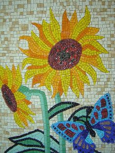 Painel em Mosaico Mosaic Tray, Mosaic Tile Art, Mosaic Artwork, Mosaic Windows, Stone Edging, Decoupage, Mixed Media Techniques, Mosaic Patterns, Garden Art