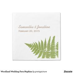 Woodland Wedding Fern Napkins