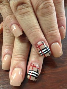 #burberry #nails love these