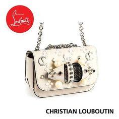 Christian Louboutin ショルダーバッグ・ポシェット ルブタン 品のあるパールやきらめくスタッズ使いにときめく Christian Louboutin Women, Shoulder Bag, Bags, Fashion, Handbags, Moda, Fashion Styles, Totes, Shoulder Bags
