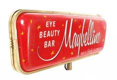 Vintage Maybeline Make Up Counter Sign | Advertising Sign