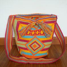 Rosa - patterned mochila (plain strap) - £49
