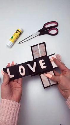 Amazing – diy home crafts Diy Crafts Hacks, Diy Crafts For Gifts, Diy Home Crafts, Diy Arts And Crafts, Cool Paper Crafts, Paper Crafts Origami, Fun Crafts, Diy Gift Box, Diy Gifts For Boyfriend