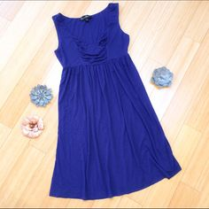 "Blue knit dress, S. Soft, dark blue knit dress by Mercer & Madison. Great condition - versatile dress. Dress length is 37"". Mercer & Madison Dresses Midi"