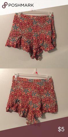 High waist zipper shorts Multi color high waist shorts zipper on side Forever 21 Shorts