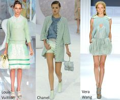 More mint green for this Spring. Love the trend, so fresh and beautiful.