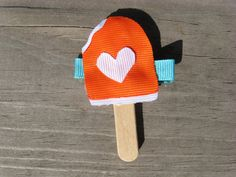 Dreamsicle Creamsicle Popsicle Hair Clippie by Bettysgirlybowtique, $3.00